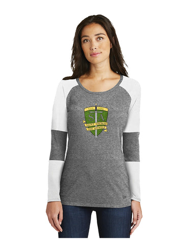 Ladies New Era Tri-Blend Long Sleeve Tee