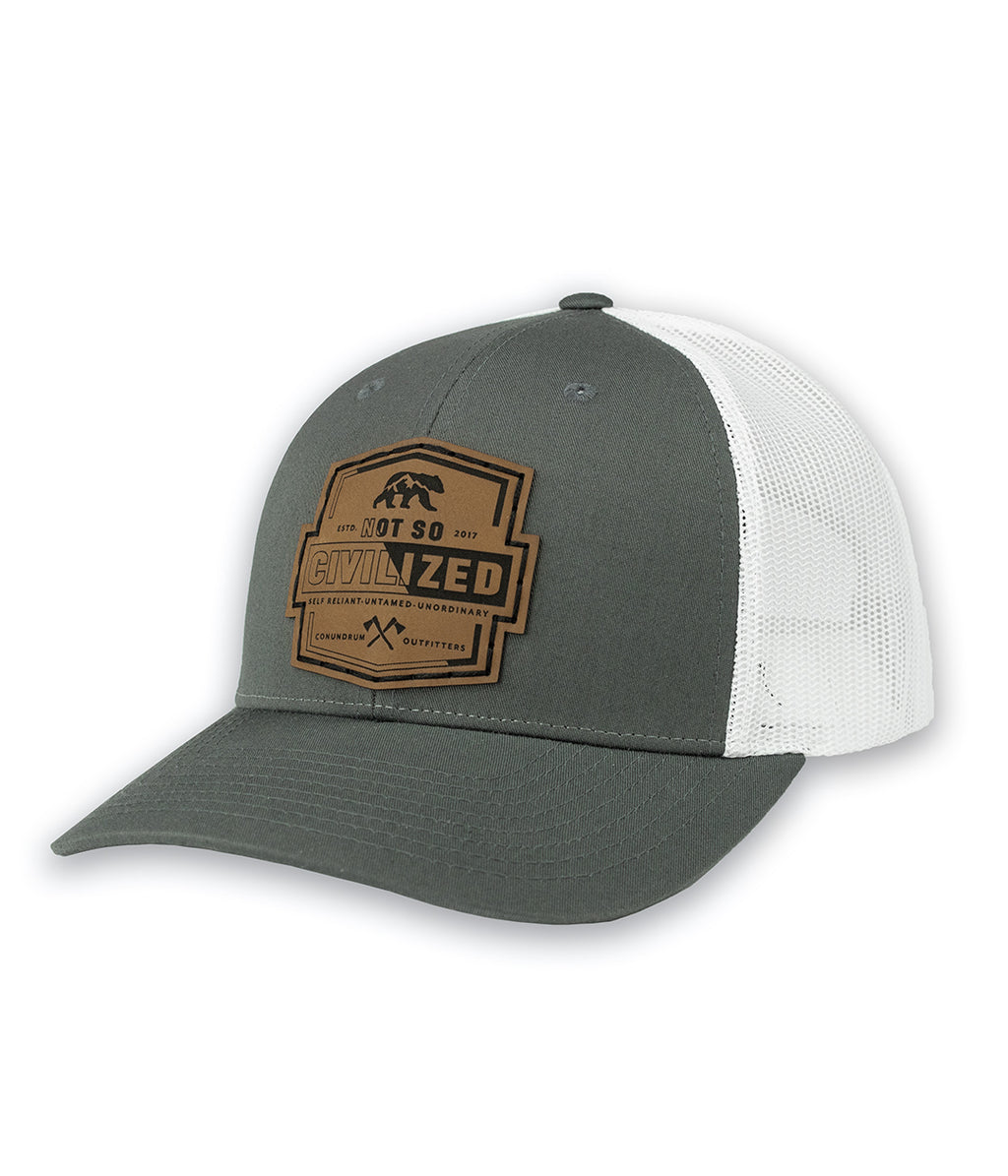 Uncivilized Trucker Hat - Charcoal