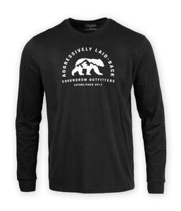 Aggressively Laid Back Long Sleeve - Black
