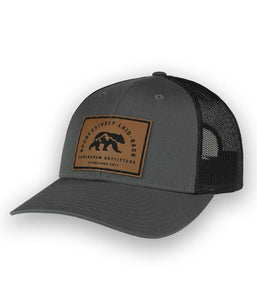 Aggressively Laid Back Charcoal Low Profile Outdoor Trucker Hat