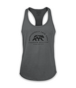 Aggressively Laid Back Women's Tank - Dark Grey