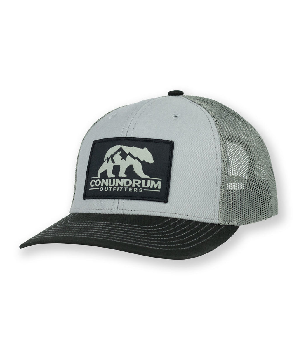 Apex Trucker Hat - Grey/Black