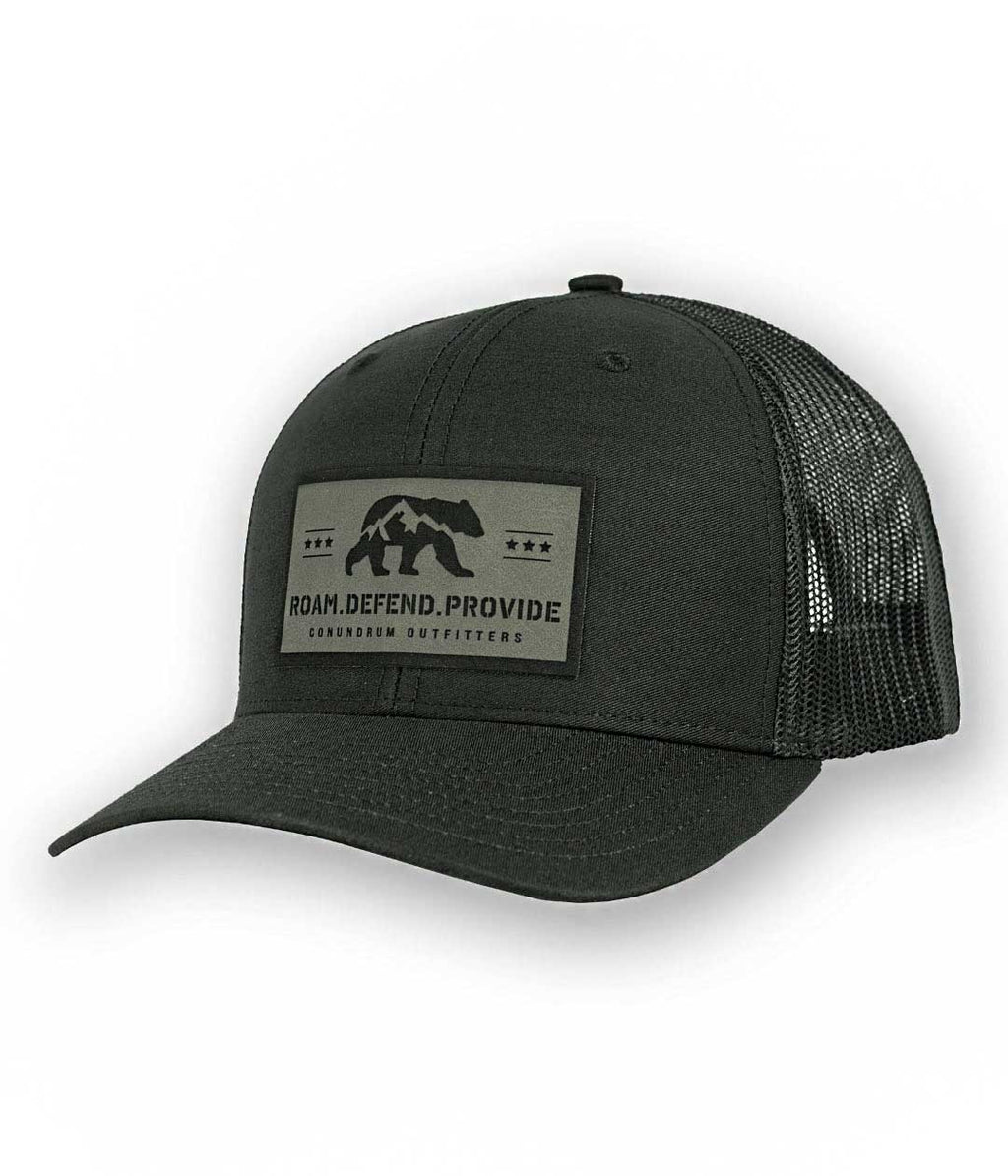 Bear Rights Black Mid profile hat