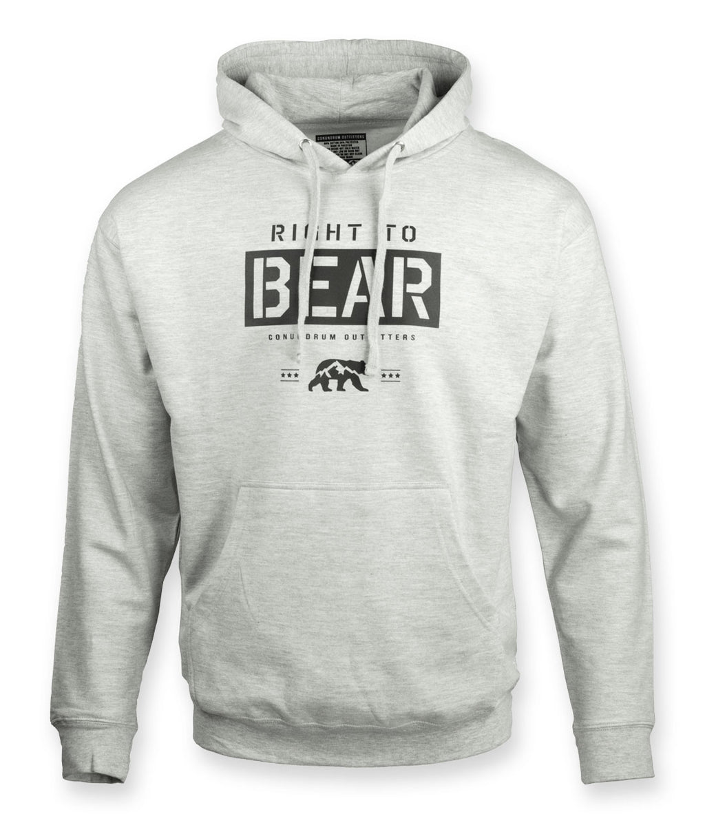 Bear Rights Heather Grey Outdoor Hoodie