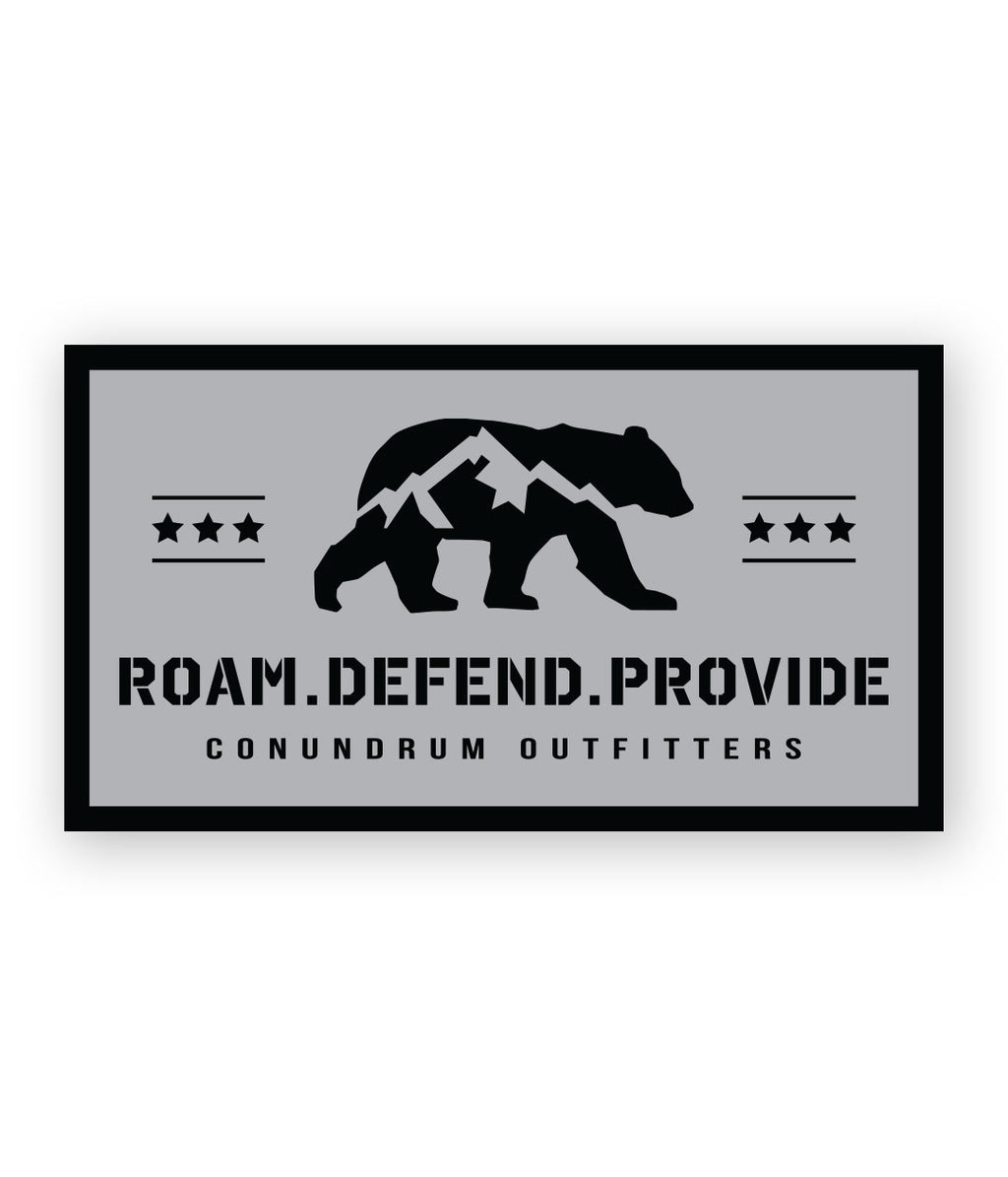 Bear Rights Sticker - Grey