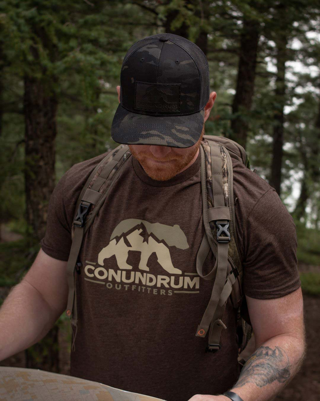 Conundrum Espresso Short Sleeve Multicam Black Hat