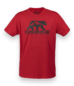 Conundrum Red Short Sleeve Outdoor Tshirt
