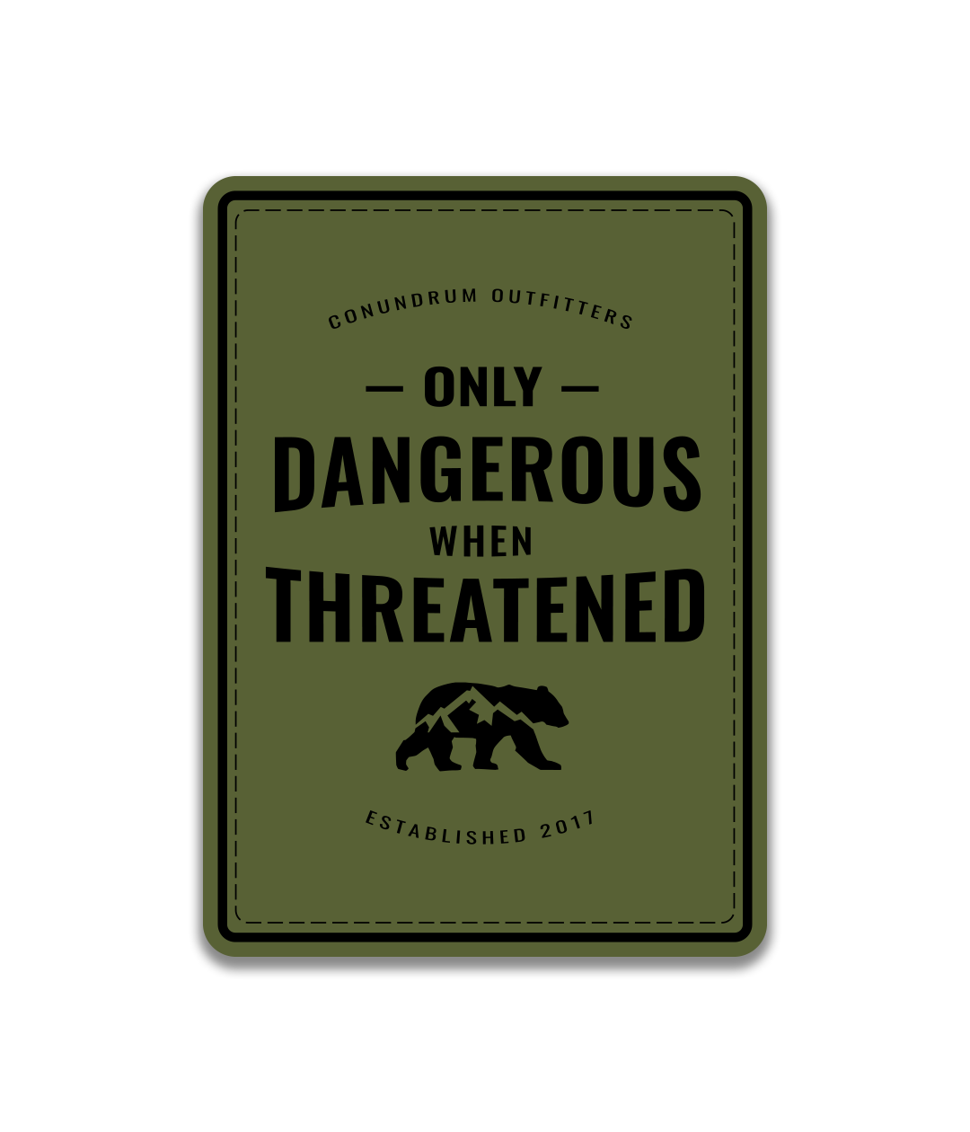Dangerous Sticker