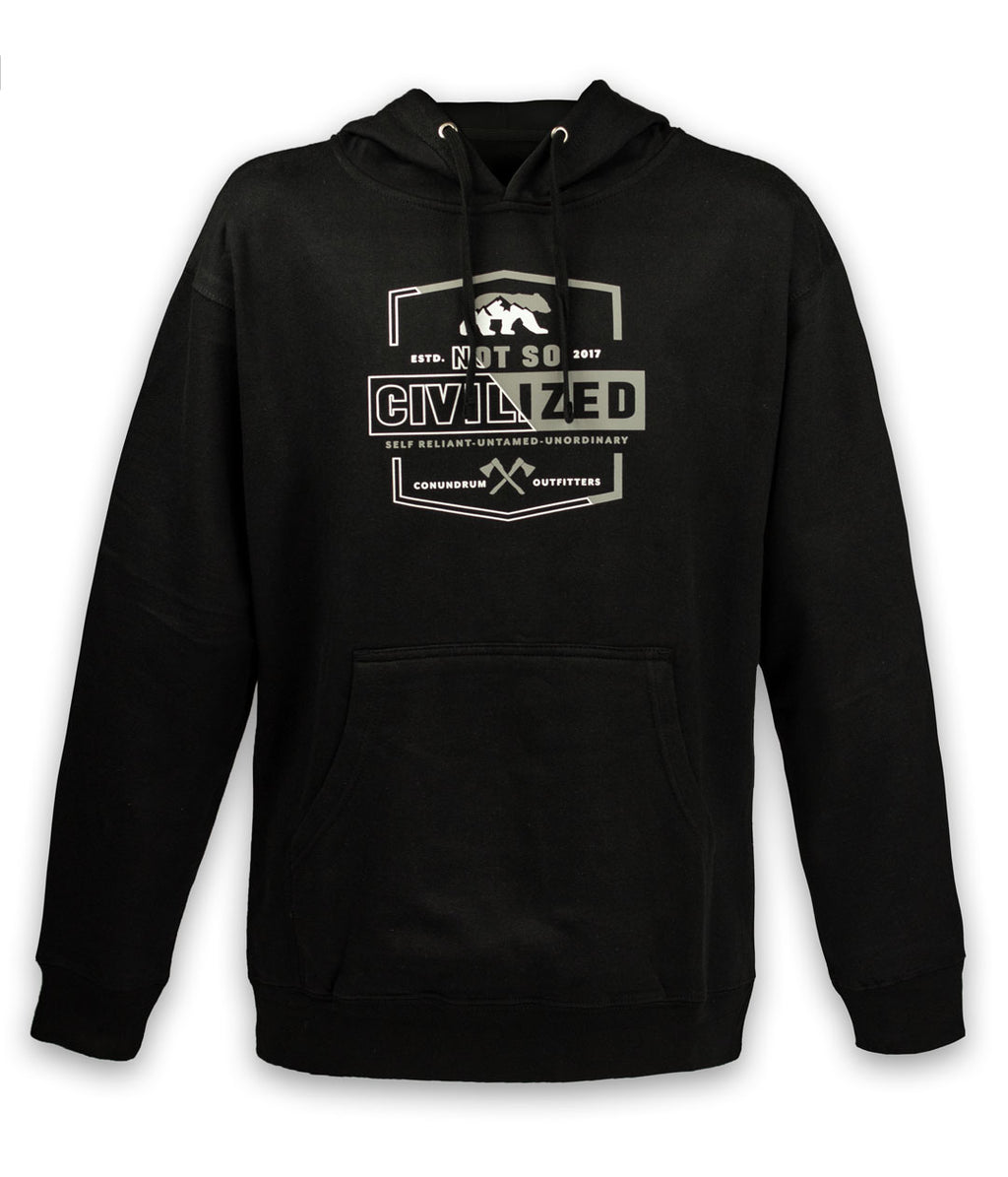 Not So Civilized Black Hoodie