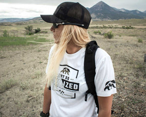 Not So Civilized Short Sleeve White and Multicam Black Trucker Hat