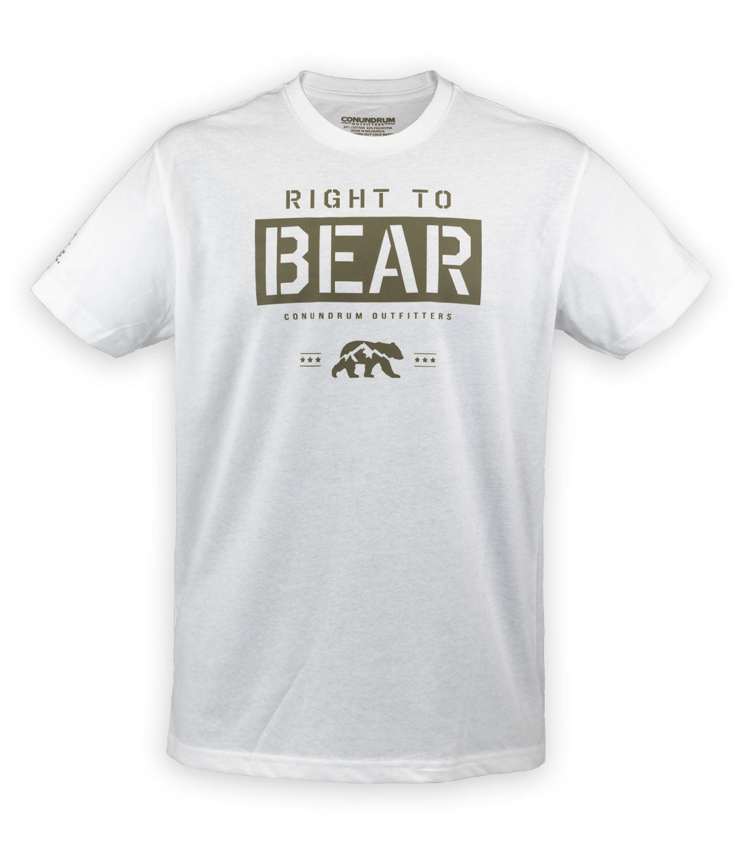 Bear Rights White Short Sleeve Shirt