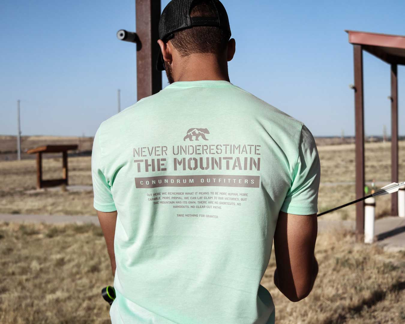 Never Underestimate the Mountain Mint Short Sleeve Archery