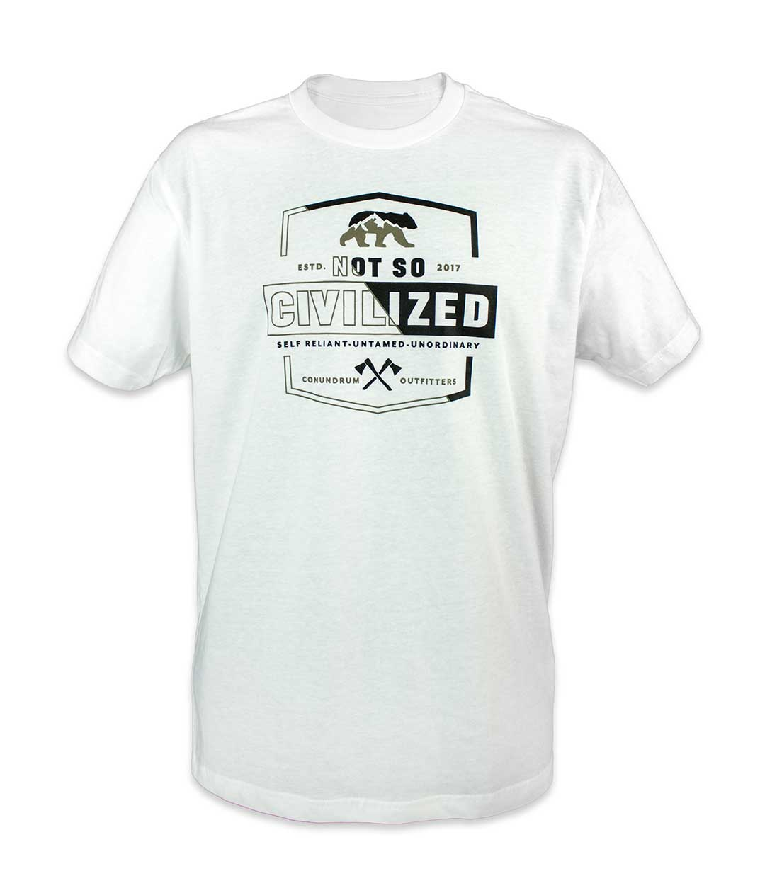 Uncivilized Short Sleeve White Outdoor Tshirt