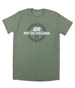 Uncivilized Tshirt - Heather Military Green