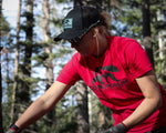 Live Tough Stone Blue and Black Low Profile Outdoor Trucker Hat and Red Short Sleeve