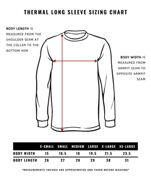 Conundrum Outfitters Thermal Long Sleeve Sizing Chart