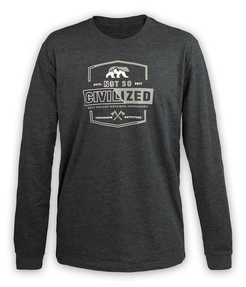 Uncivilized Long Sleeve - Charcoal