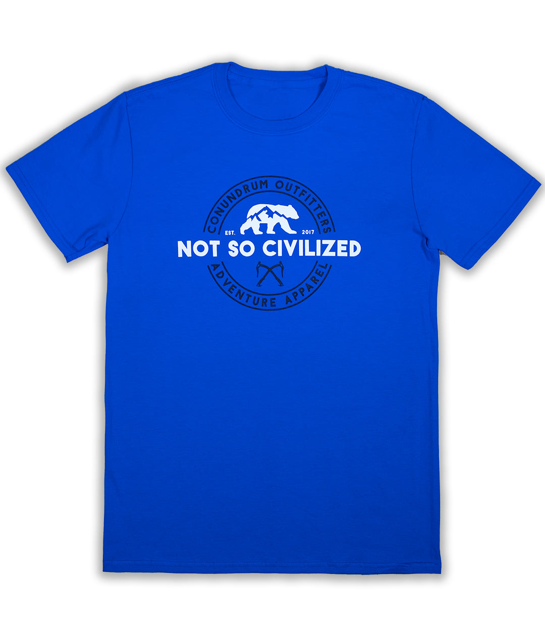 Uncivilized Tshirt - Royal Blue