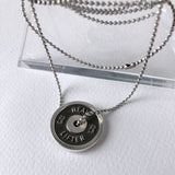 Heavy Lifter Silver Necklace