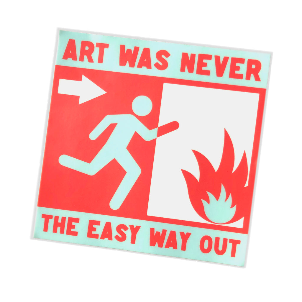 Art Is Hard Sticker