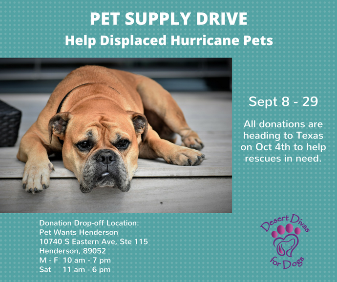 Pet Supply Drive - September 8-29th 2017