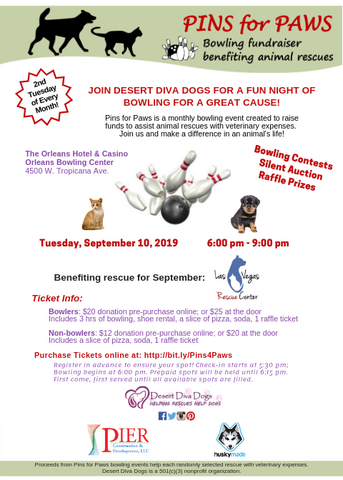 Pins for Paws hosted by Desert Diva Dogs Benefiting Las Vegas Rescue Center