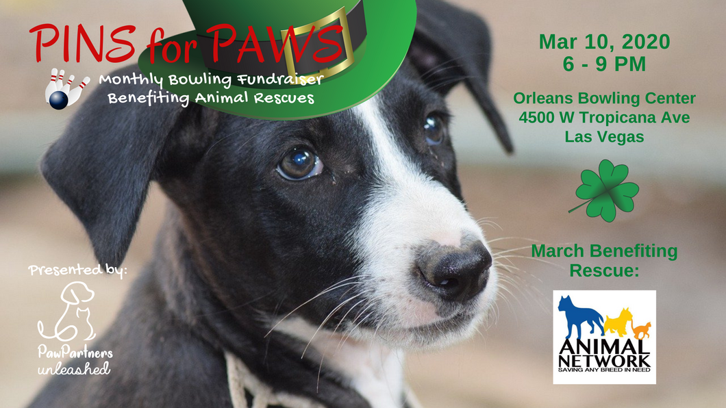 March 2020 Pins for Paws by Paw Partners Unleashed