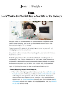 Here's What To Get The Girl Boss in Your Life for the Holidays