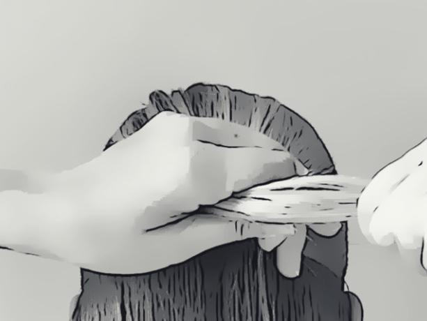 How to Use a Hair Stick: Step 1