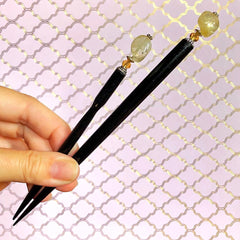 Citrine Hair Stick sizes