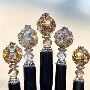 A set of 5 of our Kathleen and Lindsey Hair Sticks made from Czech glass beads