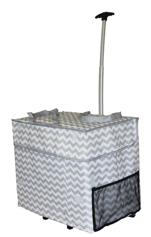 Trendy Wide Load Smart Cart Grey Chevron - Trolley Dolly   - Storage & Organization,dbest products - dbest products, Inc