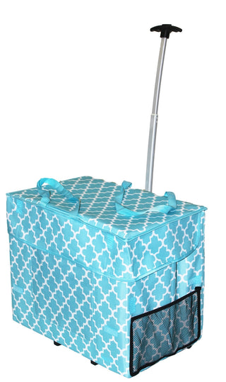 Trendy Wide Load Smart Cart Moroccan Tile - Trolley Dolly   - Storage & Organization,dbest products - dbest products, Inc