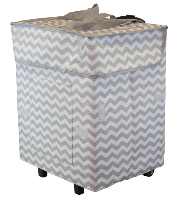 Trendy Bigger Smart Cart - Gray Chevron - Trolley Dolly   - Storage & Organization,dbest products - dbest products, Inc