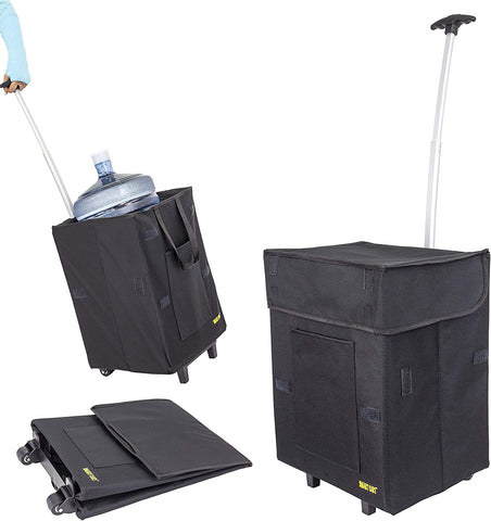 Black collapsible Smart Cart.