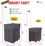 Collapsible Smart Cart dimensions.