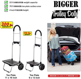 Foldable grocery shopping cart.