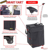 Features of collapsible cart.
