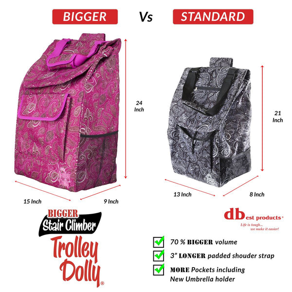 Trolley dolly bag dimensions.