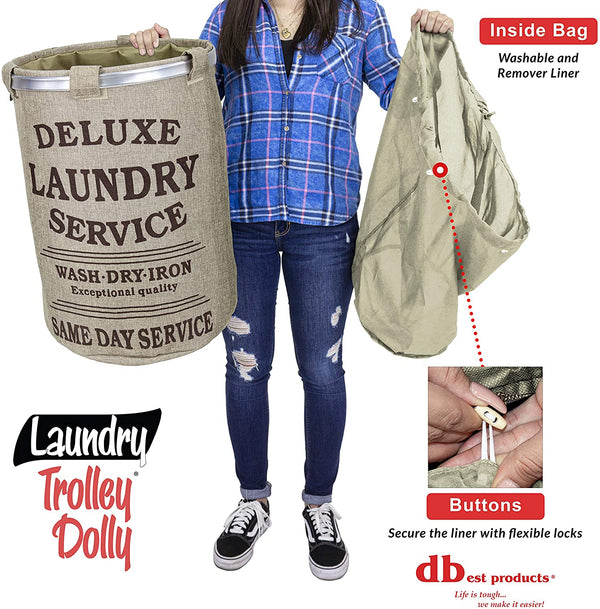 Laundry hamper washable liner.