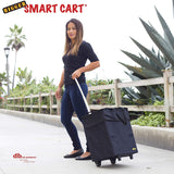 Woman pulling collapsible Smart Cart.
