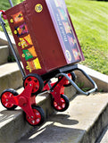 Stair Climber Trolley Dolly II - Red - Trolley Dolly   - Storage & Organization,dbest products, Inc - dbest products, Inc