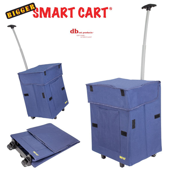 3 blue foldable shopping cart.