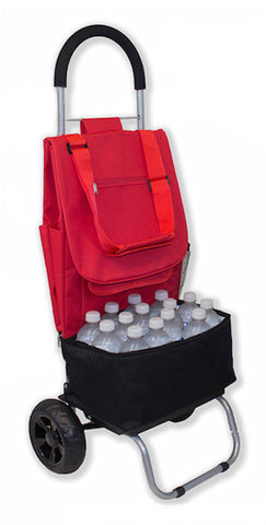 Double Cooler Trolley Dolly - Red