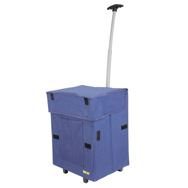 Blue collapsible Smart Cart.