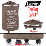 Laundry Trolley 360,Brown