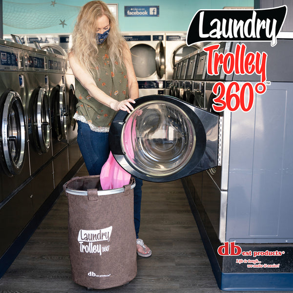 Laundry Trolley 360, Brown
