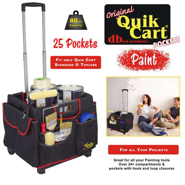 Rolling crate with pockets, paint.