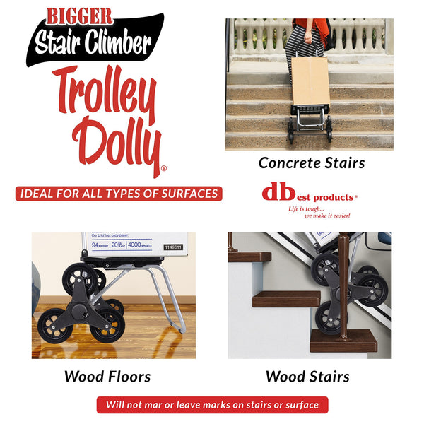 Bigger Trolley Dolly Climbing Stairs.