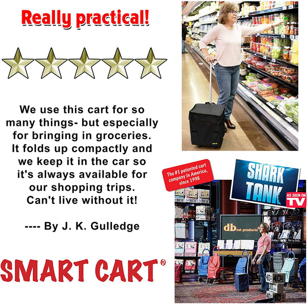 Customer review grocery Smart Cart.